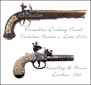 Versailles Dueling Pistol, Kumbley & Brum of London flintlock