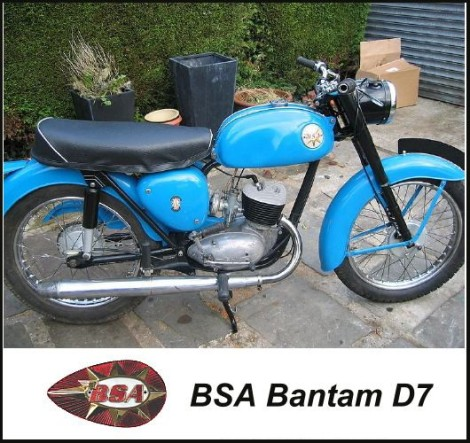 BSA Bantam Mototrcycle, produced by Birmingham Small Arms, UK.