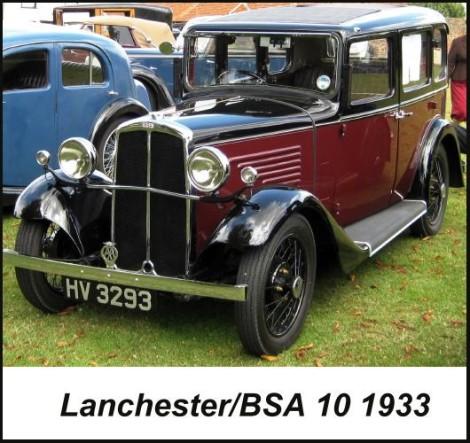 1933 Lanchester / BSA 10